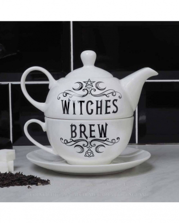 3-tlg. Teeservice Witches Brew