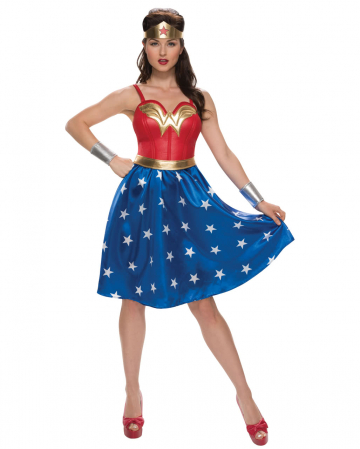 4tlg. Kostümkleid Wonder Woman