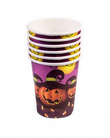 Halloween Drinking Cup Pumpkin & Magic Hat 8 Pcs.