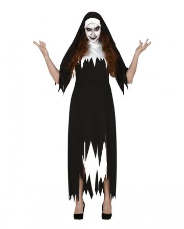 Zerlumptes Nonnen Kostüm für Damen