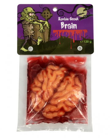Zombie Gehirn mit Blut Soße Fruchtgummi