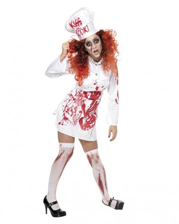 Blutige Zombie Köchin Kostüm