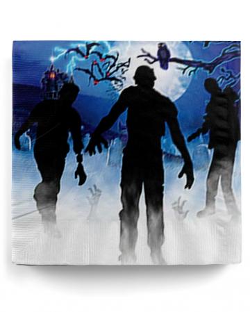 Zombie Party Motiv Servietten 16 Stück