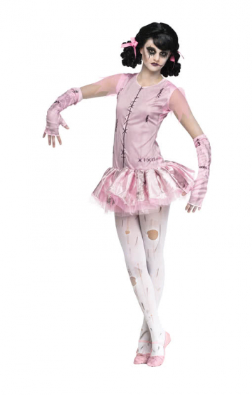 Zombie Ballerina Mädchenkostüm