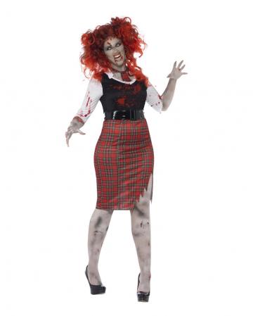 Kurviges Schulmädchen Zombie Kostüm