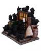 36 Schwarze Katzen mit Fantasy Gothic Display