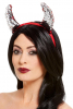 Devil Horns With Sequins In Red-silver