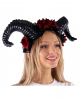 Aries Cosplay Horns With Red Roses