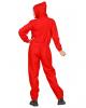 Bankräuber Kostüm Overall Rot Unisex
