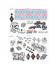 Birds of Prey - Harley Quinn Tattoo Set 40 Stück