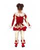 Blutiges Clownskind Mädchen Kostüm