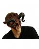 Teuflische Dämonen Maske mit Hörner