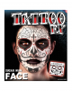 Face Tattoo Sugar Skull Male