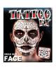 Gesichtstattoo Sugar Skull männlich