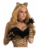 Fingerless Leopard Gloves