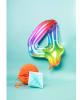 Regenbogen Folienballon Zahl 4