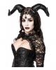 Gothic Dämon Damenkostüm mit Hörner