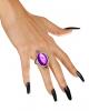Ring mit violettem Schmuckstein