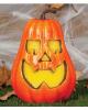 Grinsender Halloween Kürbis mit Licht