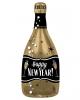 Happy New Year Champagner Flasche Folienballon