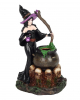 Witch With Witch Cauldron Backflow Incense Cone Holder