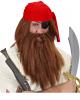 Piraten Perücke mit Bart