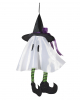 Small White Ghost With Witch Hat 36 Cm