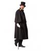 Schwarzer Kostüm Kutschermantel