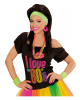 Neon Sweatband Set Green As Costume Accessory