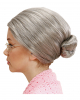 Grey Grandma Children Wig With Knots