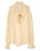 Historical ruffled shirt beige