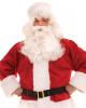 5-tlg. Weihnachtsmann Kostüm mit Plüsch