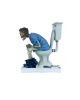"""S(h)it Too Long"" Skeleton Sitting On Toilet"