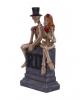 Skelett Brautpaar auf Grabmal 17cm
