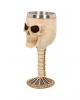 Totenschädel Kelch mit Edelstahleinsatz