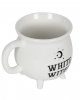 Weißer Hexenkessel Kaffeetasse