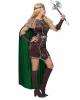 Wikingerin Kostüm mit Umhang für Damen
