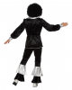 70's Men Costume Black-silver