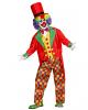 5-tlg. Clown Kostüm mit Frack & Hut