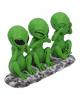 Drei Weise Aliens Statue 16cm