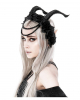 Evil Princess Gothic Headdress With Horns