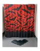 Gothic Shower Curtain With Bats