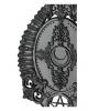Gothic Handspiegel mit Hörner & Pentagramm