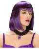 Gothic Halsband mit lila Schmuckstein