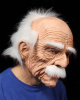 Grandfather Mask With White Hair & Moustache