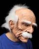Opa Maske mit weißen Haaren & Schnurrbart