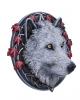 Weißer Herbstwolf Wanddekoration 29cm