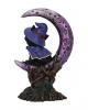 Witch Kitten With Purple Crescent Moon 18,5cm