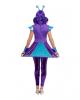 Purple Metallic Alien Ladies Costume