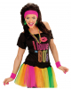 Neon Sweatband Set Pink As Costume Accessory